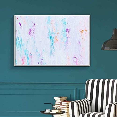 Floating Framed for Living Room Bedroom Abstract Colorful Painting for