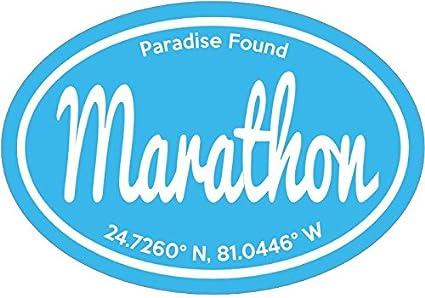 Florida keys decal blue marathon paradise found florida keys vinyl sticker florida keys bumper