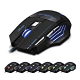 Zelotes 7200 DPI 7 Button USB LED Light Optical Wired Gaming Mouse for Pro Gamer