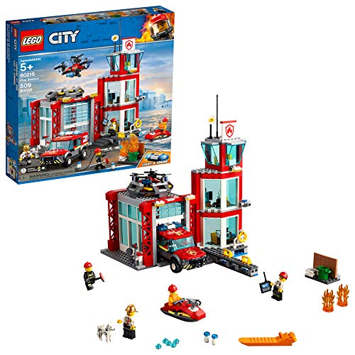 LEGO City Fire Station 60215 Building Kit, New 2019 (509 Pieces)
