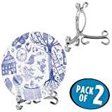 mDesign Easel Holder Stand for Cookbooks, China Plates, Diplomas, Photos - ...