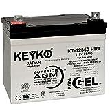Everest & Jennings Kid Power 12V 35Ah Battery - Fresh & REAL 35 Amp - Deep Cycle AGM/SLA Seal Lead Acid Designed for Wheelchair - Genuine KEYKO KT-12220 HRT - Nut & Bolt L2 Terminal