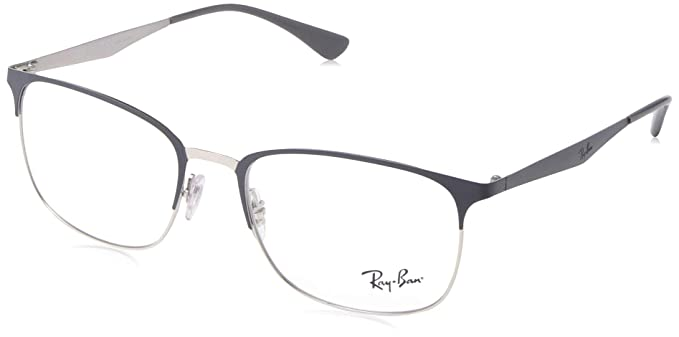 79683d635 Image Unavailable. Image not available for. Color: Ray-Ban 0rx6421 No  Polarization Rectangular Prescription Eyewear Frame, Silver ...