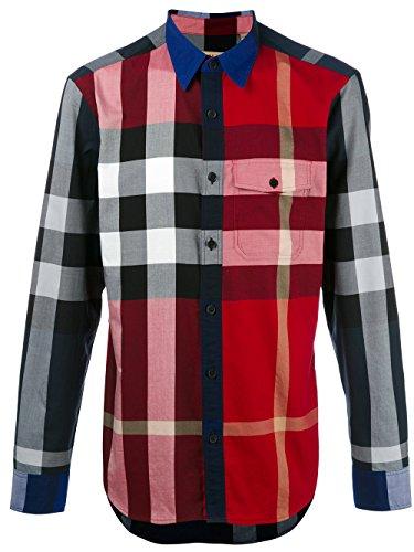 Burberry Check Cotton Poplin Men's Shirt ()