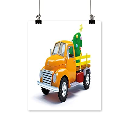 Old Truck With Christmas Tree Painting.Amazon Com Canvas Painting Truck Ated Xmas Tree Star Topper