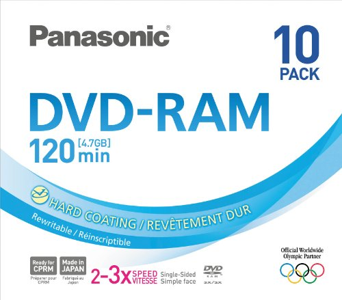 Panasonic 3x speed, 4 7GB, 10 pack DVD-RAM Disc