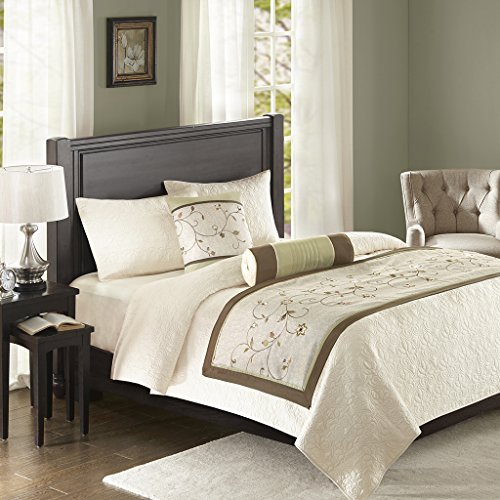 Madison Park Serene Bedscarf and Pillow Set Green See below (Dresser Top Runner)