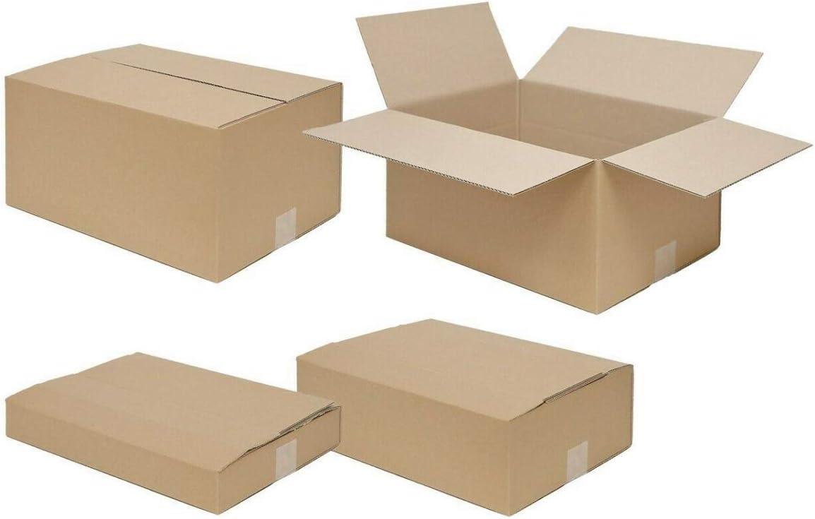 Faltkarton Versandkarton 350x250x100-150mm HÖHE variabel 1wellig braun