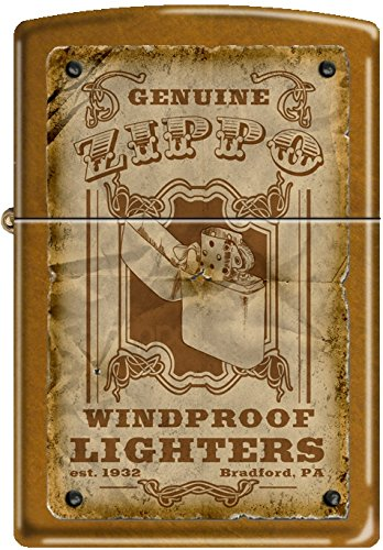 Zippo Genuine Zippo Vintage Windproof Lighter Bradford PA Poster Toffee NEW (Zippo Lighters Bradford Pa)