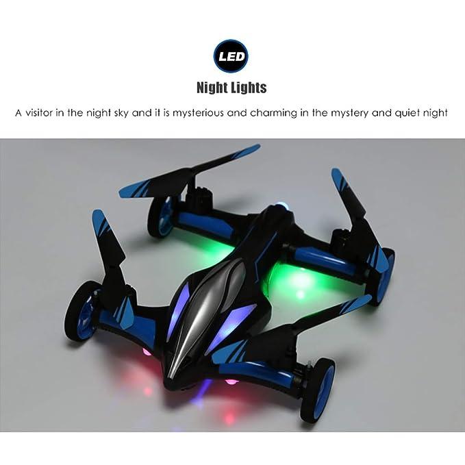 WLPT Drone terrestre y aéreo, JJRC H23 Dron Flying Cars Control ...