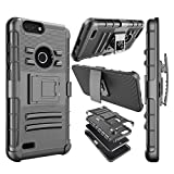 zte zmax swivel clip - ZTE Blade Z Max Case, ZTE Zmax Pro 2/ZTE Sequoia Holster Cover, Njjex [Ngate] Armor Swivel Locking Holster Belt Clip Kickstand Heavy Duty Full Body Carrying Case [Black] compatible with ZTE