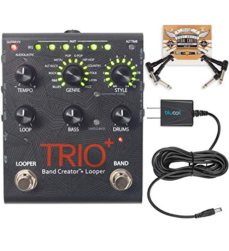 Digitech Trio+ Band Creator + Looper w/ Patch Cables and Power Supply ()