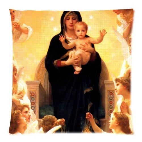 Virgen María y bebé Jesús cojín funda - manta de decoración ...