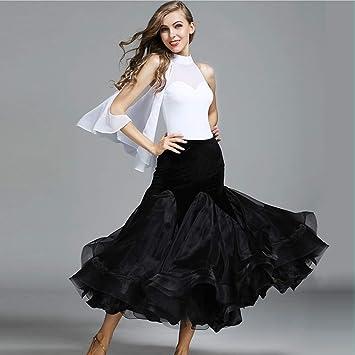 Moderna Señora Gran Péndulo Terciopelo Salón De Baile Vestido De Baile Moderno Vestido De Danza Tango