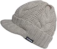 YUTRO Jockey Style Wool Knitted Winter Hat with Visor One Size