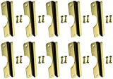 Don-Jo OSLP-210-EBF 12 Gauge Steel Short Type Latch Protector with Fasteners, Brass Plated, 2-5/8'' Width x 10'' Height, For Outswinging Doors (Pack of 10)