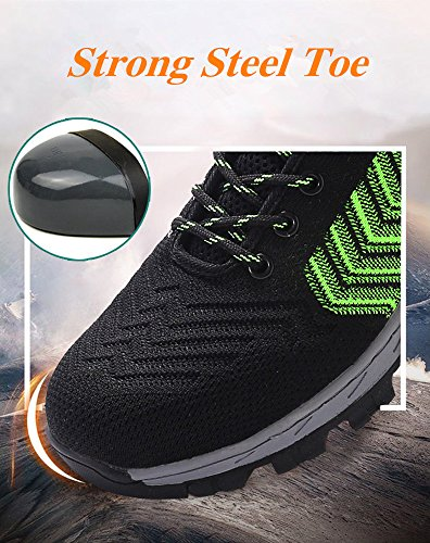 2018 Men Steel-Toe Safety Shoes Fashion Hiking Boots Construction Work Shoes by AiKim (Image #2)