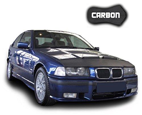 Protector de Capo para BMW 3 E36 CARBON Hood Bra máscara Capot Capucha Frond End Cover Bonnet TUNING Black Bull Nuevo