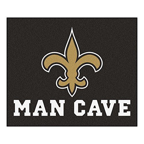 FANMATS 14339 NFL New Orleans Saints Nylon Universal Man Cave Tailgater Rug by Fanmats