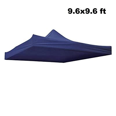 Awesome and Durable Pop Up Canopy Outdoor Tent Folding Gazebo Party Sun Shade Shelter 9.6x9.6 ft (Canopy Cover - Navy) : Garden & Outdoor