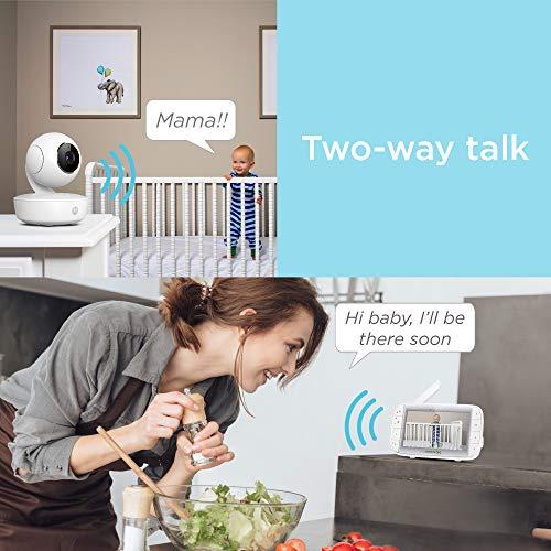 "517HiPmoGuL - Motorola Video Baby Monitor 5"" Color Parent Unit, Remote Pan/Tilt/Zoom, Portable Rechargeable Camera, Two-Way Audio, Night Vision, 5 Lullabies, MBP36XL"