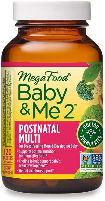 MegaFood, Baby & Me 2 Postnatal Multi, 120 Tablets