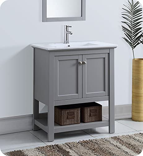 Amazon Com Fresca Manchester 30 Gray Traditional Bathroom Vanity Kitchen Dining