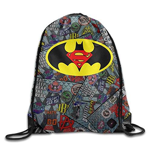 IYaYa Batman Meets Super Hero Drawstring Backpack Gym - Las Michael Americas Kors