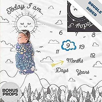 Amazon.com: Manta de doble cara para bebé con diseño de ...