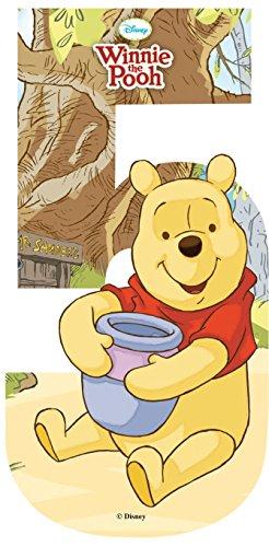 Self Adhesive Wheelie Bin Disney Numbers 17cm - 5 - Winnie the Pooh Classic Sign & Design