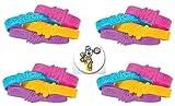 BUNDLE of 48 Superhero Rubber Bracelets plus a Cool Superhero Button