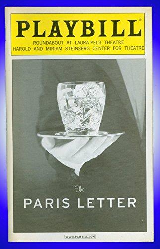 The Paris Line, Off-Broadway playbill + Ron Rifkin , Michele Pawk , Jason Butler Harner, John Glover, Jon Robin Baitz