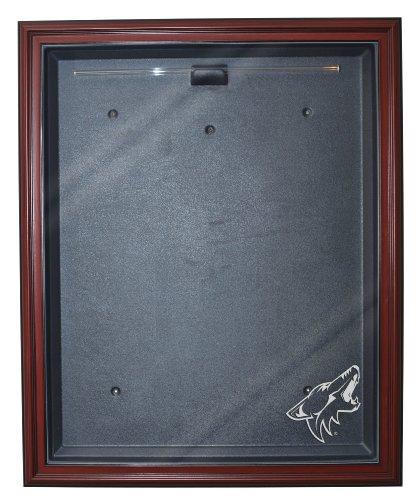 UPC 846422006615, NHL Phoenix Coyotes Cabinet Style Jersey Display, Mahogany
