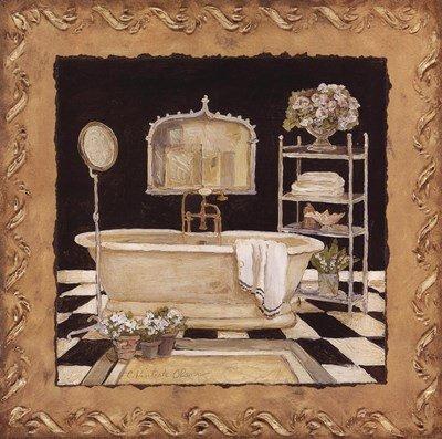 Maison Bath IV by Charlene Winter Olson - 12x12 Inches - Art Print Poster