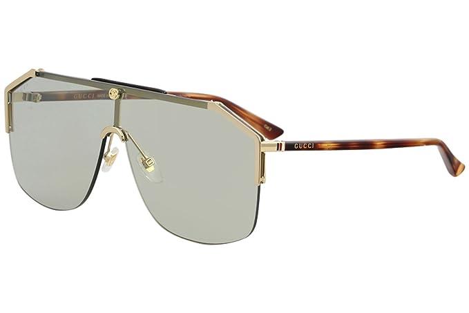 d1480ca8 Amazon.com: Gucci gg0291s 100% Authentic Men's Sunglasses Gold 005 ...
