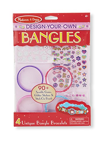 Melissa & Doug Design-Your-Own Bangles Bracelet-Making Set (Makes 4 Bangles) Design Childrens Bangle
