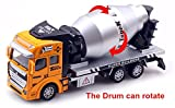 Katoot@ 1:48 Pull Back Alloy Car Engineering Truck Model Excavators Cement Concrete Mixer Dumpers Diecasts Toy Vehicles for Boys Concrete Mixer