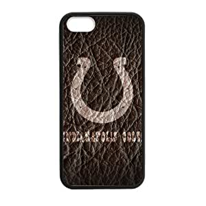 Zyhome iPhone 5,5S Cool Leather Indianapolis Colts Logo HD Pic Case Cover for iPhone 5,5S TPU (Laser Technology)