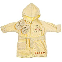 Personalized Baby Bath Robe (Yellow Ducky Style)