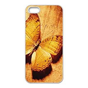 Butterfly iPhone 5 5s Cell Phone Case White sjqv
