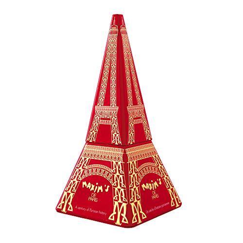 Luxury Tower Gift (Maxim's Eiffel Tower Tin with Milk Chocolate Lace Crepes 70 g)