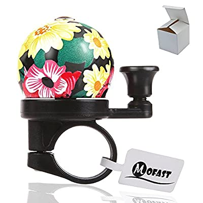 MOFAST 6 Patterns Unique Vintage Mini Bicycle Bell and Horns for Adults Kids Safety Warning Bike Bell Gift by Mofast