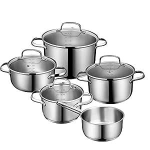 Deik juego de ollas olla acero inoxidable bater a de for Utensilios cocina acero inoxidable