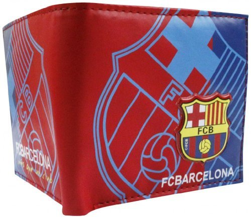 Barcelona Football Soccer Club 3D Faux Leather PVC PU Wallet Purse Billfold 5 Card Slots