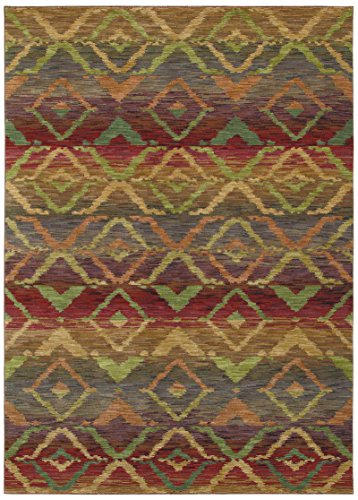 Tommy Bahama Canberra Ikat 9x13 Nylon Rectangular Area Rug by Shaw Living