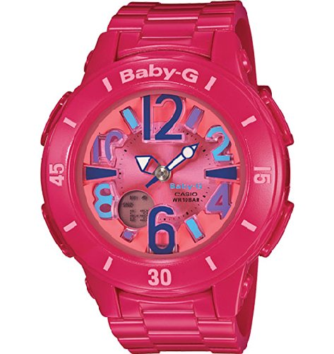 Casio Baby G Pink Dial Pink Resin Ladies Watch (Baby G Pink Dial)