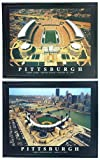 Framed Pittsburgh Steelers and Pirates, Heinz Field & PNC Park Aerial Photograph Prints (Set of 2)