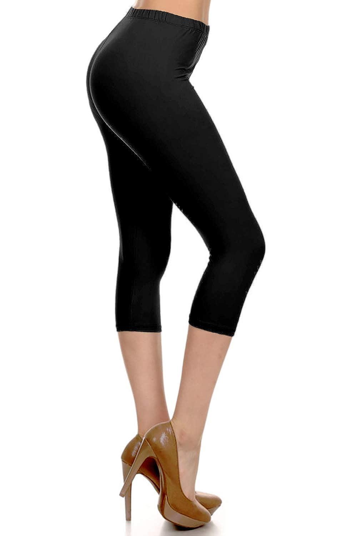e7c2bb51e6fab Leggings Depot High Waisted Capri Leggings - Soft & Slim - 37+ Colors at  Amazon Women's Clothing store: