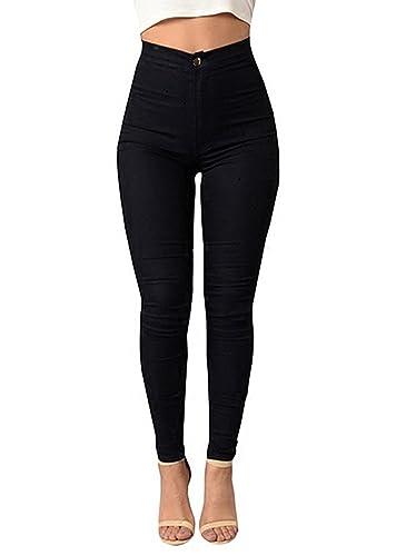 RUHUA Women's Classic High Waist Denim Skinny Jeans