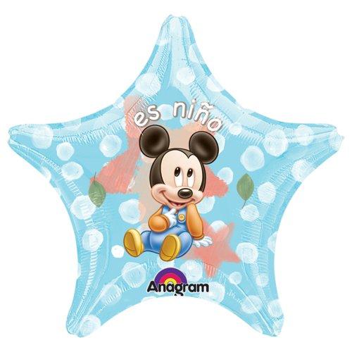Anagram 21483 Mickey ES Nino Star Foil Balloon Multicolored 22